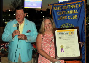 PIP Sid and President Gwen with the charter